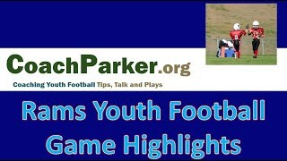 Youth Football Game Highlights - KYA Football Jr Rams - Beast Youth Offense  First 3 Games