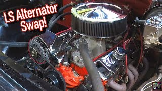 LS Style Alternator Upgrade for Small Block Chevy - Gen 1 SBC   Wiring + Fabrication Complete How-To