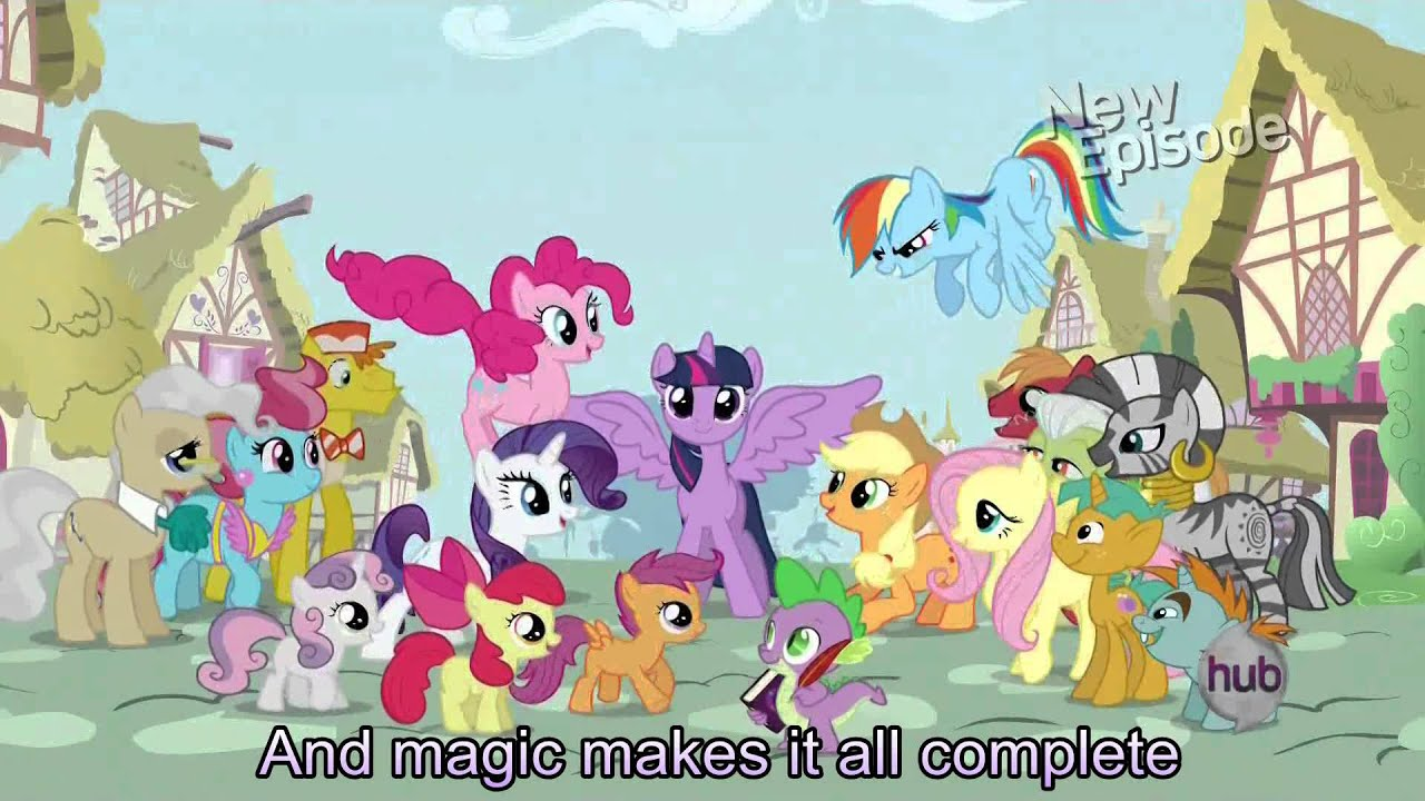 My Little Pony Theme Song With Lyrics My Little Pony Friendship Is Magic Song Youtube