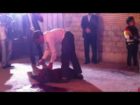Iranian wedding - Traditional sacrifice of a sheep