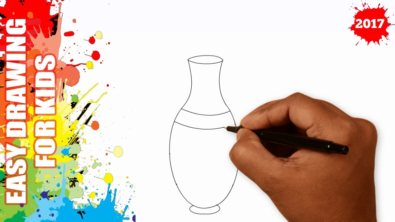 How to draw a vase easy and simple for kids in 50s youtube how to draw a vase easy and simple for kids in 50s reviewsmspy
