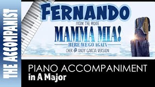 Fernando - from the movie Mamma Mia Here We Go Again (Cher/Andy Garcia) - Piano Only - Karaoke