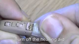 How to fit a Siemens DASTRI DAI shoe to a hearing aid