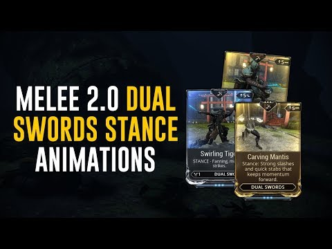 Dual Sword Stances & Animations - Melee 2.0 (Warframe)