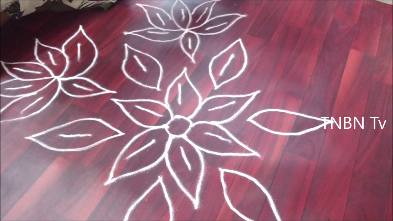 Simple rangoli designs for home freehand easy rangoli for Home rangoli designs