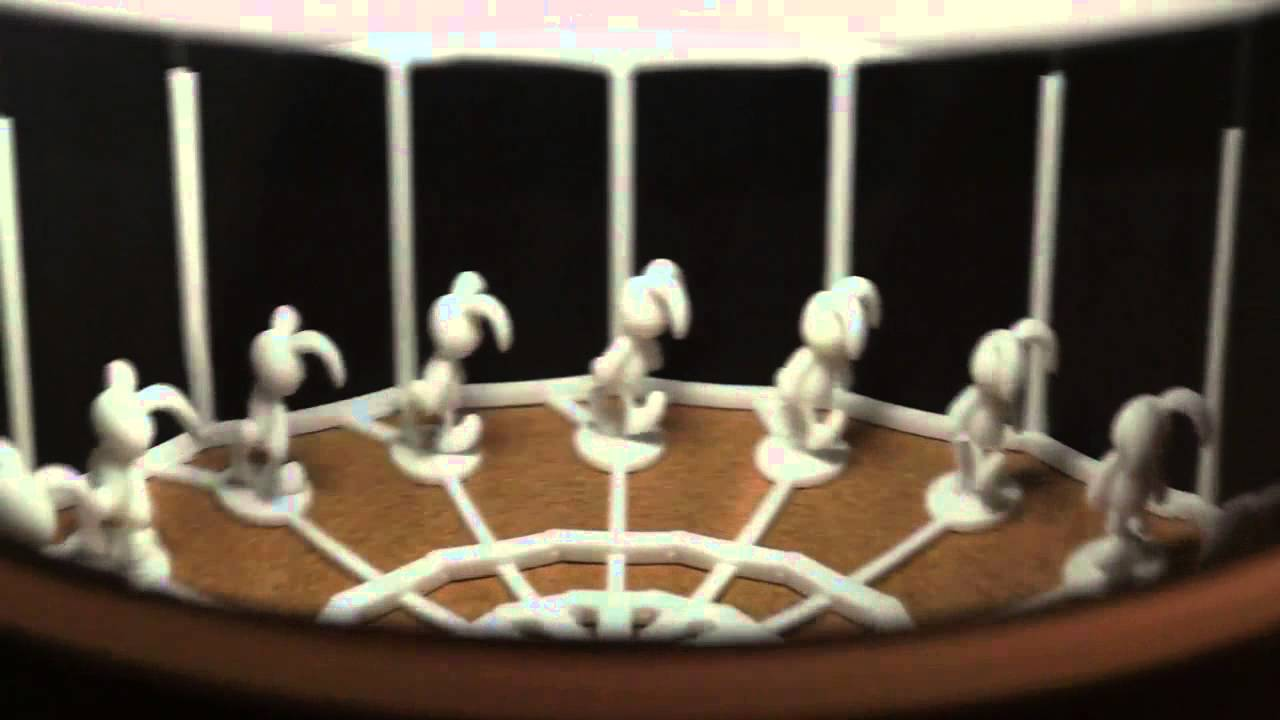3d printed zoetrope stage 2 youtube