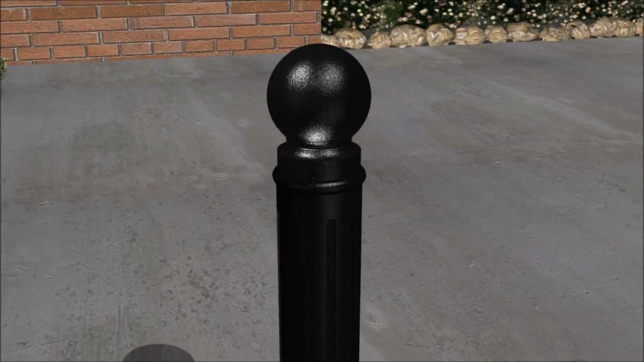 installing decorative bollards with adhesive anchors - youtube