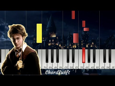 Harry Potter Theme Music (Hedwig's Theme) - EASY Piano Tutorial thumbnail