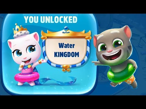 Talking Tom Pool Unlock Water KINGDOM | Walkthrough Level 111-116  | Cartoons Mee