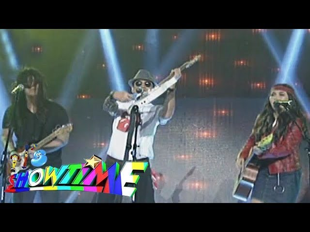 It's Showtime: Rey Valera, Mitoy and Yeng Constantino deliver a Rock n' Roll performance