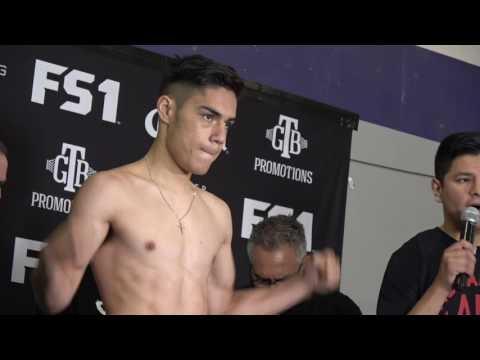 Brandon Rios vs Herrera  Full Weigh & Faceoff  rios a slim146.4!!! esnews boxing