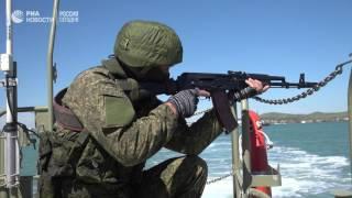 Учения спецслужб на стройплощадке Крымского моста