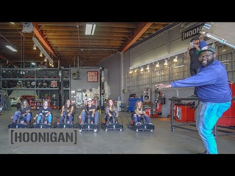 [HOONIGAN] DT 051: Female Racer Crazy Cart Battle #hooniganswanted