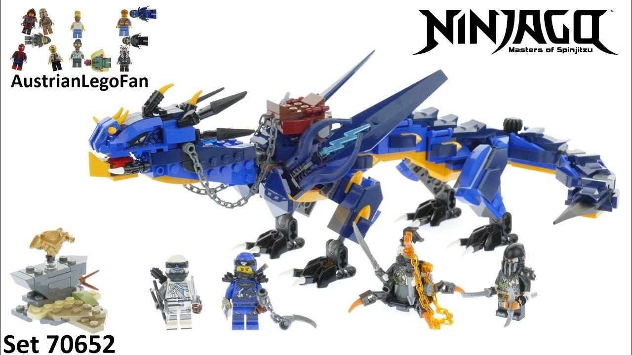 LEGO NINJAGO LIGHTNING JAY SPINJITZU MASTERS MINIFIGURE BLUE NINJA DRAGON