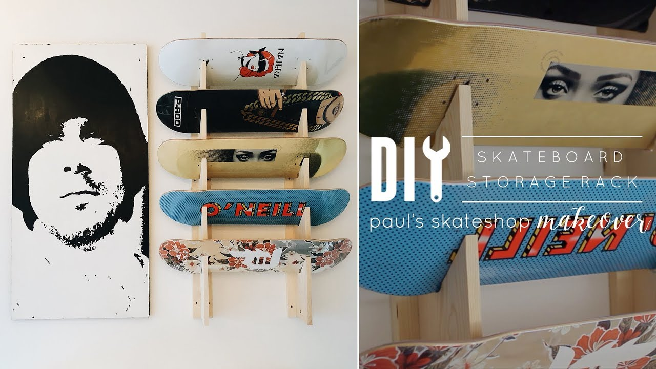 DIY Skateboard Rack | Paulu0027s DIY Skate Workshop Pt. 2 & DIY Skateboard Rack | Paulu0027s DIY Skate Workshop Pt. 2 - YouTube