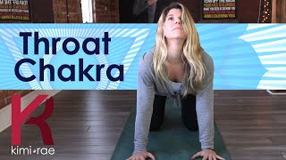 Throat chakra...QUICK way to open and clear your throat which is the gateway for communication.