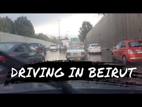 Driving in Beirut Lebanon 2017
