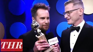 Sam Rockwell 2018 Golden Globes Backstage Interview After Winning Best Supporting Actor | THR