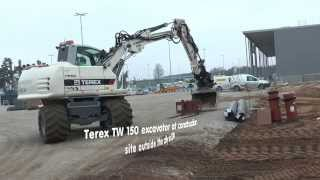 Video still for Terex TW 150 excavator at construction site outside the city in 2014