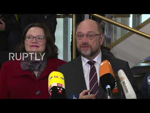 Germany: Coalition negotiations to set a new political direction for Europe - Schulz