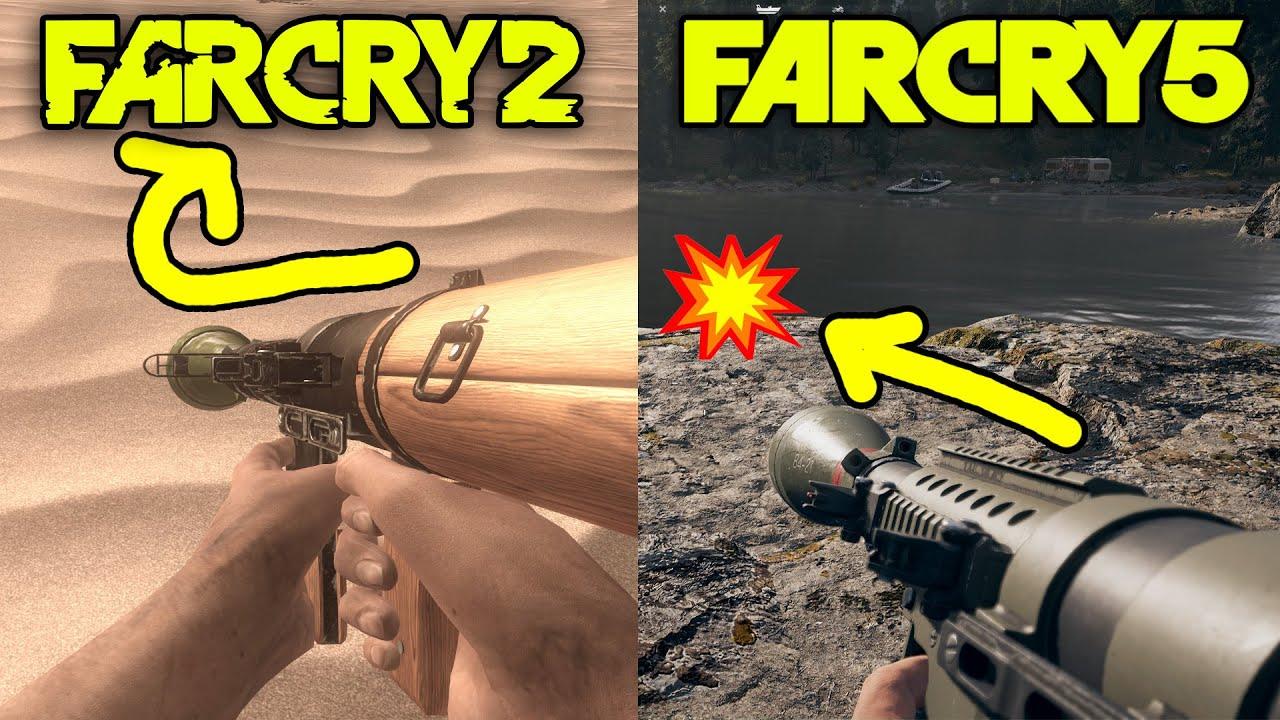 Far Cry 2 vs Far Cry 5 - Weapons Comparison thumbnail
