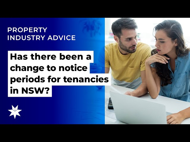Has there been a change to notice periods for tenancies in NSW?