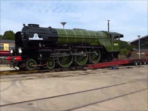 "L.N.E.R. Peppercorn A1 60163 ""Tornado"" in Apple Green Arriving NRM Shildon"