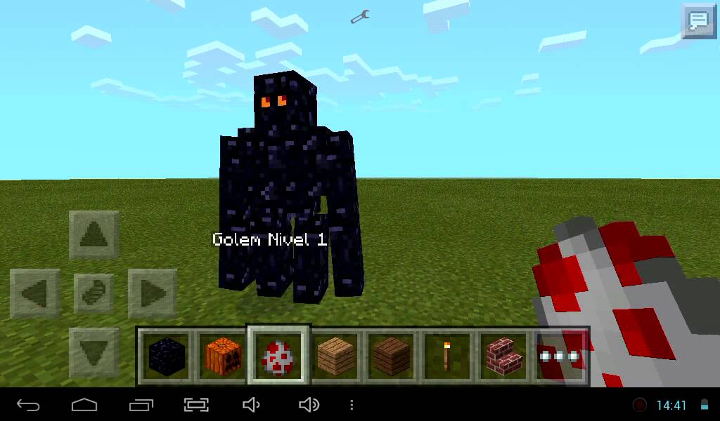 Golem de obsidiana mod minecraft pe 0 9 5 youtube - Minecraft golem de diamant ...
