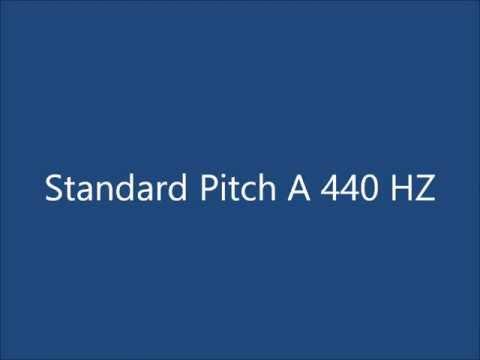 a 440 hz (standard pitch)