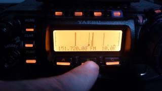 Repeat youtube video FT-857D Inbuilt Spectrum Scope