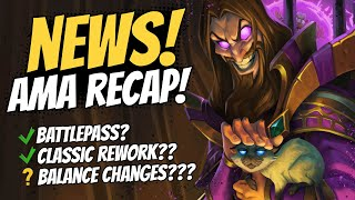 CLASSIC REWORK?? BATTLEPASS? And More Big News from the Hearthstone Team AMA! | Hearthstone