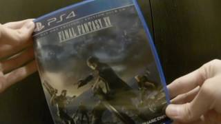 Unboxing Final Fantasy XV Square Enix Sony playstation 4 PS4 FF FFXV