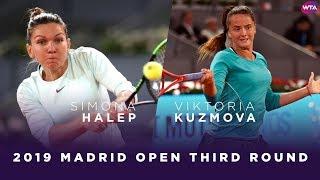 Simona Halep vs. Viktoria Kuzmova | 2019 Madrid Open Third Round | WTA Highlights
