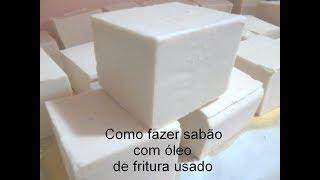 COMO FAZER SABÃO DE ÓLEO USADO USANDO 3 INGREDIENTES – SUPER FÁCIL