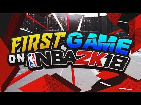 NBA 2K18 MY FIRST GAME IN THE NEIGHBORHOOD! NBA 2K18 MyPARK! INTENSE GAME!