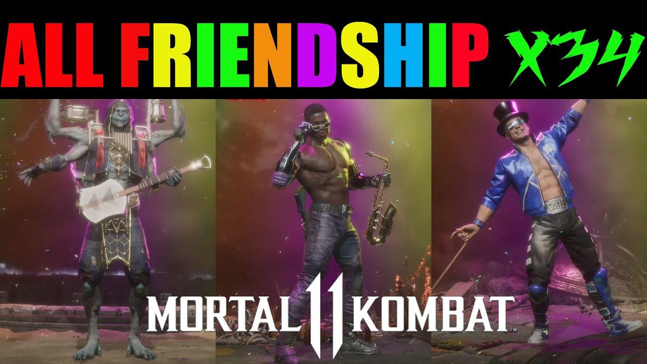 ALL FRIENDSHIPS - MORTAL KOMBAT 11 ALL CHARACTERS