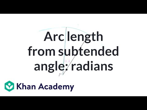Finding arc length from radian angle measure | Trigonometry | Khan Academy