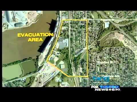 Grain silo fire forces evacuations