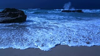 Falling Asleep With The Waves On A Peaceful Night - Deep Sleeping On A Beach In Portugal