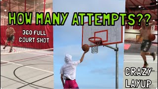 HOW MANY ATTEMPTS FOR CRAZY LAYUPS!?!?