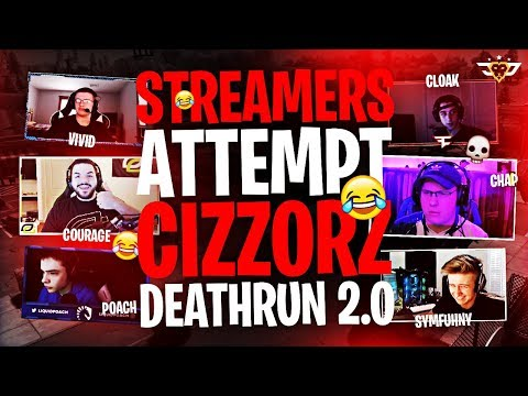 STREAMERS ATTEMPT CIZZORZ DEATHRUN 2.0! (Fortnite: Battle Royale)