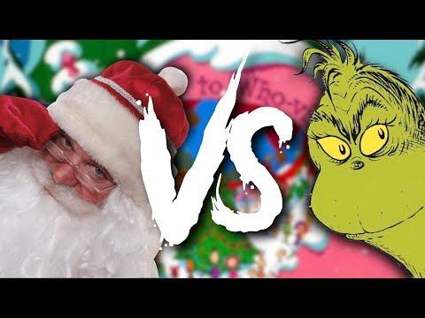 Christmas Epic Rap Battle: Santa Vs The Grinch (Bad Santa) Feat. Bonecage | Daddyphatsnaps