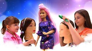 Салон Красоты Барби - Прически Барби - Игры для девочек.