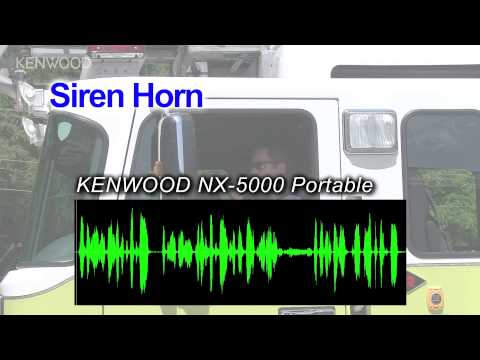 MOVIE: KENWOOD NX-5000 Portables Active Noise Cancelling Demonstration