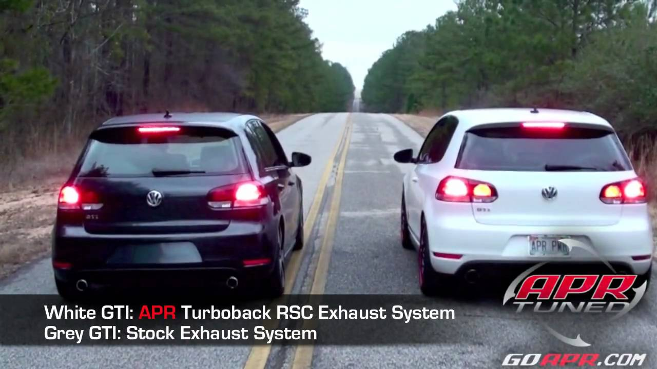 APR VW GTI MK6 20 TSI 3 RSC Exhaust Compared To Stock