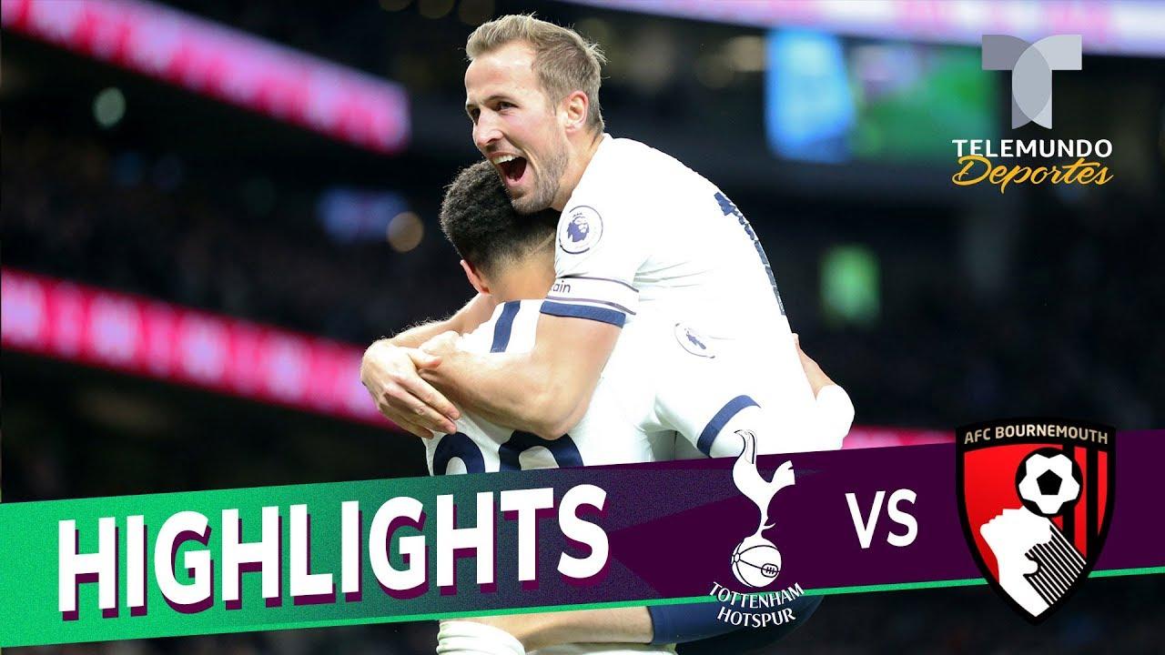 Tottenham vs. Bournemouth City: 3-2 Goals & Highlights | Premier League | Telemundo Deportes