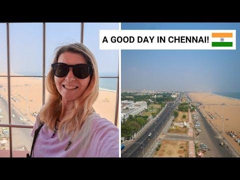 SURPRISED BY CHENNAI! Temple, Churches, St George Fort, Views & Beach. | Chennai Vlog