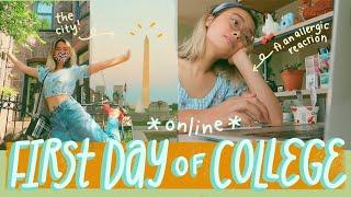 my first day of college // freshman year, washington d.c., + zoom university