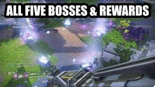 The Verdant Forest All Five Bosses Rewards Destiny 2 Youtube