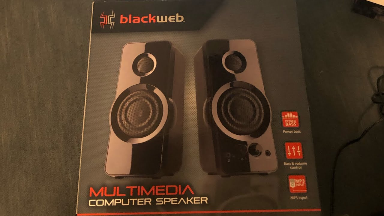Blackweb Computer Speakers Unboxing